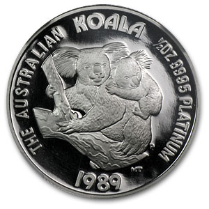 1989 Australia 1/2 oz Proof Platinum Koala PF-69 NGC